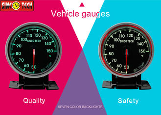 Rally Car Oil Temp Gauge ABS / Aluminum Material 50 - 150 ℃ With Frame