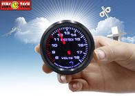 SINCO TECH Automotive Digital Voltmeter Gauge 8 - 18v Display Circle Shape