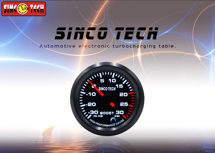 Automotive Boost Gauge , Electronic Waterproof Boost Gauge For Universal