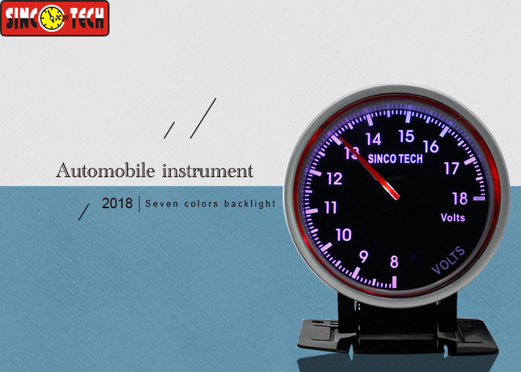 Race Car Digital Voltmeter Circle Shape 60Mm Size Single Function High Performance