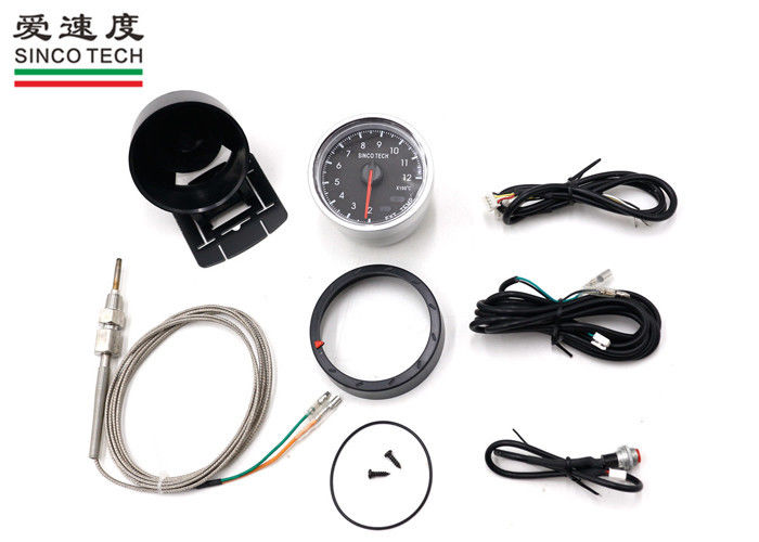 Stepper Motor Type Exhaust Gas Temperature Gauge / EXT Temp Gauge Aluminum Material