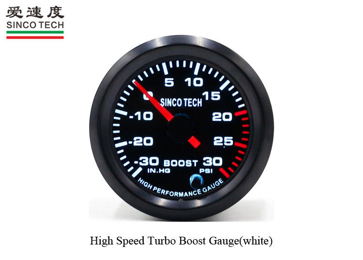 52MM ABS Race Car Gauges LED Display Boost Function PSI Unit DO 6341 Embedded Installation