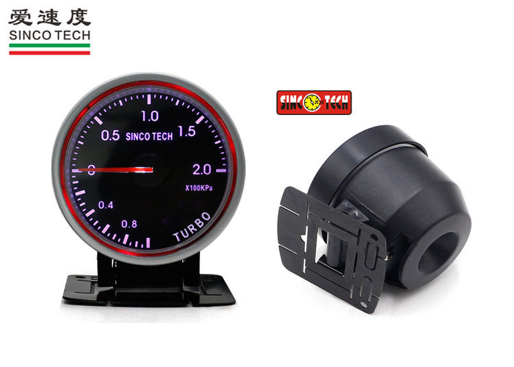 Universal Turbo Boost Gauge Purple Display with Permanent Magnet Motor