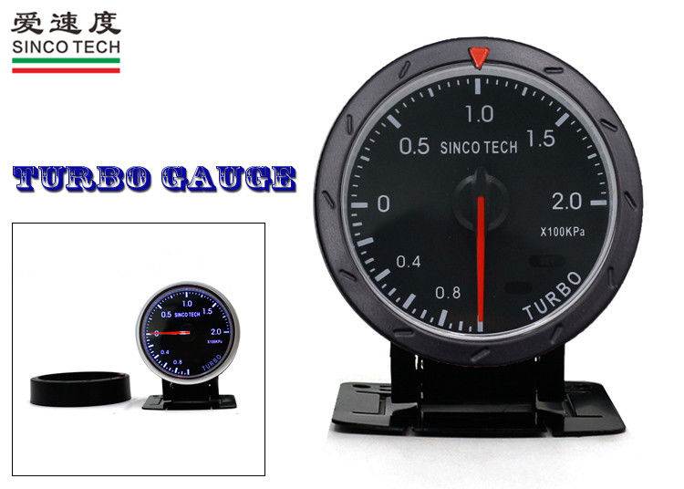 Colorful Turbo Boost Gauge Circle Type Universal Turbo Sensor For Cars