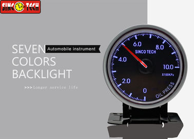 China Rally Car Electric Oil Pressure Gauge Kpa Unit Display Installation With Frame factory