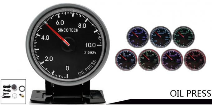 2.5 Inch 60mm Race Car Gauges LED Display 7 Color Backlight Alumimum Material