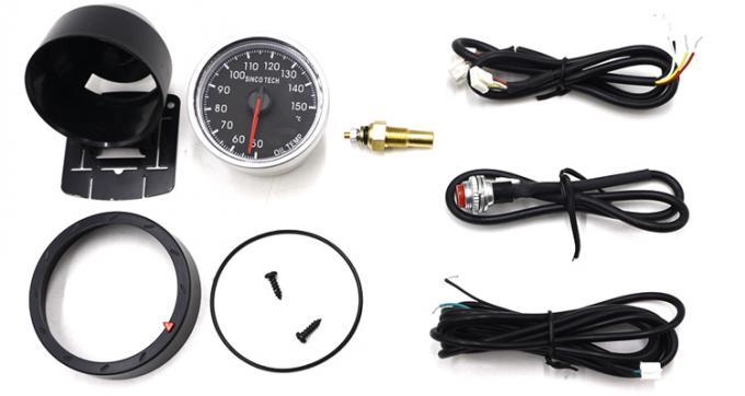 60 Mm Oil And Temp Gauges 7 Colors Backlight Universal For Racing Cars